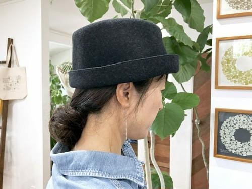 【送料無料】mature ha free hat back stitch フリーハット チャコールメランジ