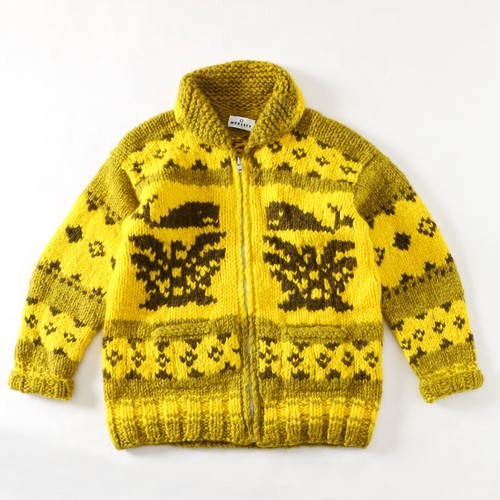 MODESTY INDUSTRY  COWICHAN SWEATER YELLOW