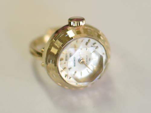 【ビンテージ時計】1971年2月製造 セイコー指輪時計 日本製 当時の定番モデルになります 【デッドストック品】