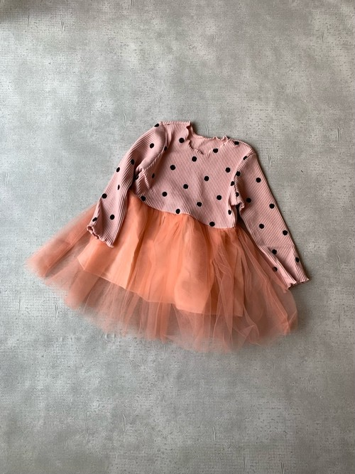 dot tulle dress
