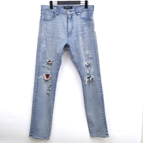 Damage Painted Denim Pants Mix