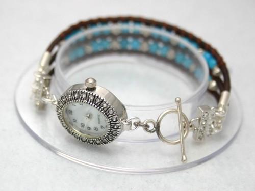 ターコイズとカレンシルバーの腕時計