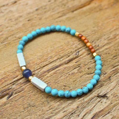 【Sodalite】×【Turquoise】bracelet