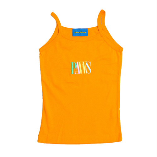 【Cat & Parfum】THE PAWS Pastel Logo Embroidery Camisole