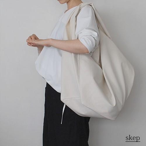 コットンショルダーバッグ【ポケット付】:生成