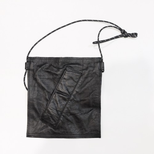 remake leather shoulder bag (fake pocket)