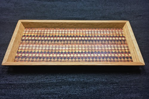 wood checker mini tray 0091