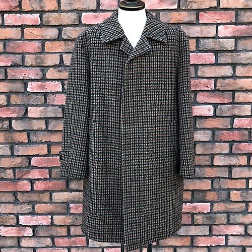1980s Vintage Harris Tweed Over Coat Made In England