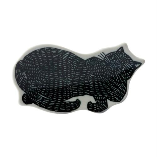 kata kata 印判手豆皿 黒猫