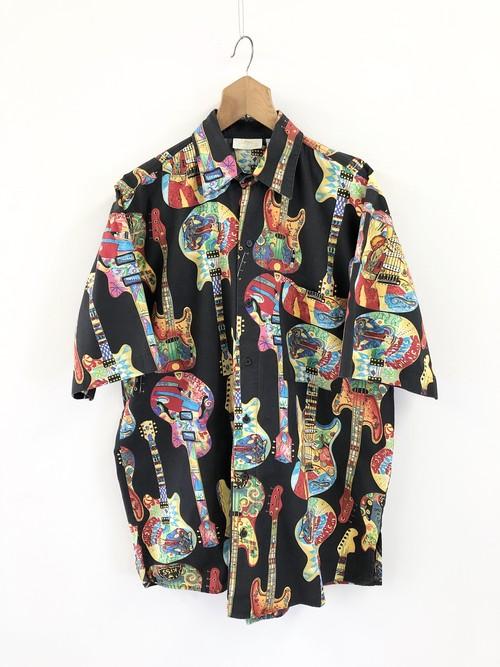Guitar & Bass Pattern Shirt