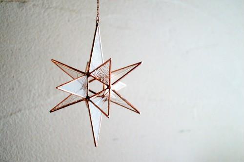 アンティーク硝子の星の煌きオーナメント* Copper color