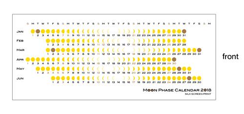 月の満ち欠け 卓上カレンダー