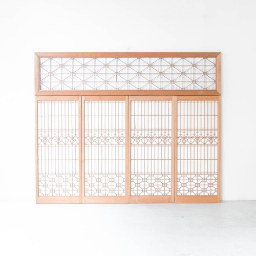 桐模様の組子書院欄間セット 5枚組