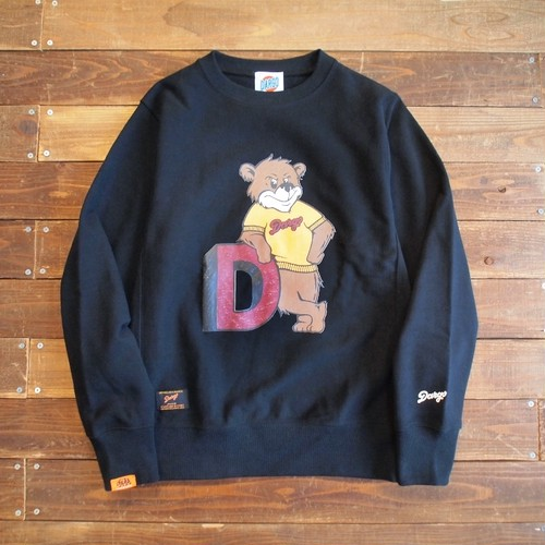 "【DARGO】""College Bear"" Heavy Weight Crew Neck Sweat (BLACK)"