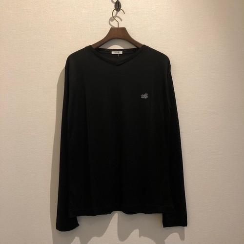 L/S V NECK TEE (BLACK) / GAVIAL