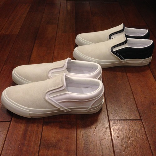 "RFW / アールエフダブリュー | "" NAAN FOLIO CANVAS SLIPON "" - White/White"
