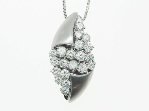 【PT900】2.00ct UP ダイヤモンドネックレス