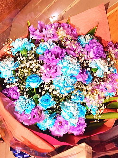 bu017 花束 青・紫系