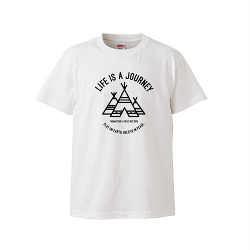 LIFE IS A JOURNEY T-SHIRT(ホワイト)