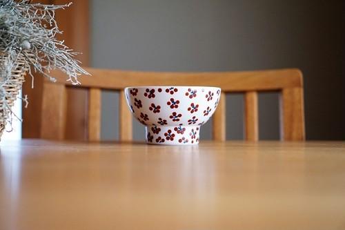 砥部焼/くらわんか茶碗(大)/赤小紋/すこし屋