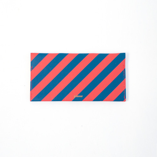 planar -Wallet L Red and Blue Stripes