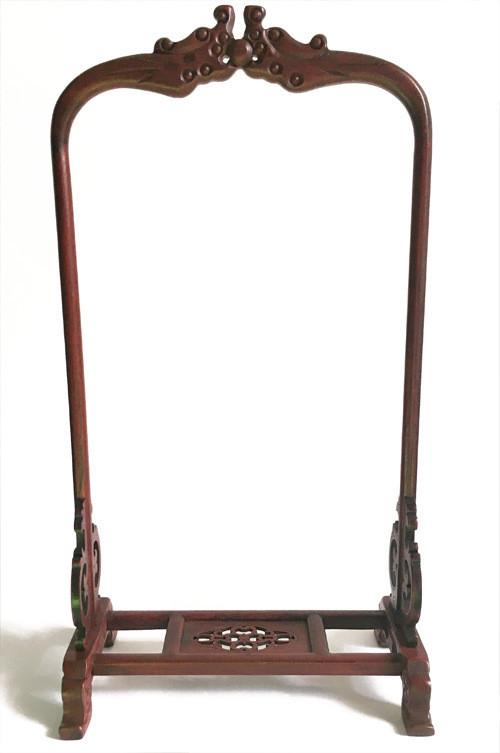 虫籠スタンド L 紫檀