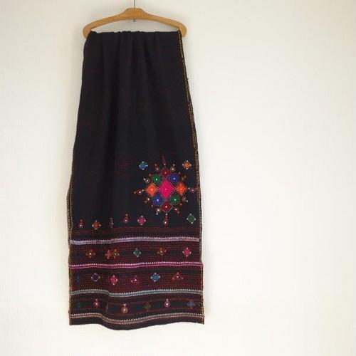 ラバリ族 vintage 刺繍ウールショール