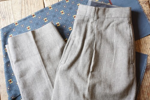 90's Ralph Lauren 2-tuck linen × cotton  Pants