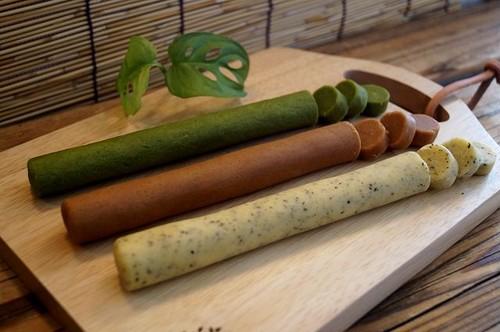 自然素材/冷凍クッキー/大人セット(ローズマリー・シナモン・抹茶)/各1本3本セット/冷凍生地/切って焼くだけ/