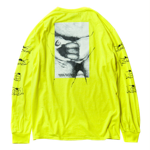 Tightbooth × KILLERBONG GOLDEN BURGER LS T-SHIRT L NEON YELLOW L