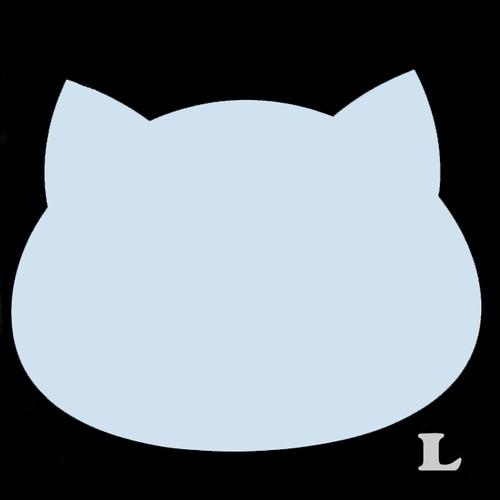ねこ型(L)★ライトブルー