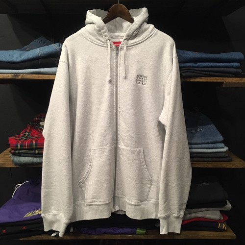 【SUPREME】 -シュプリーム-SS18 WORLD FAMOUS ZIP UP HOODED SHIRT ASH GREY