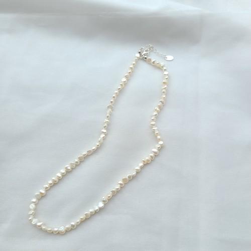 〈ネックレス〉淡水パール ショート ネックレス