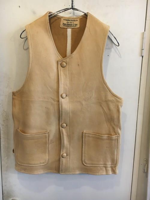old buckskin vest