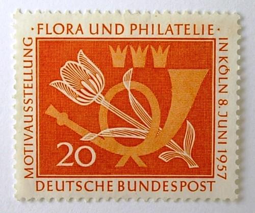 ホルンとチューリップ / ドイツ 1957