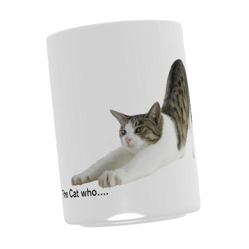 湯のみ(S) 直径6.7x高さ9(cm)  伸びジェリー(The Cat who.... ザ・キャット・フー 猫 ねこ ネコ ラッピング可能商品 贈り物 プレゼント ギフト GIFT)