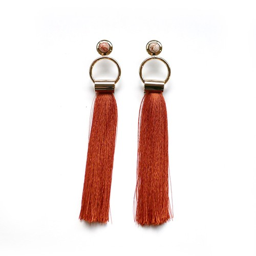 SOL Earrings GOLD/TERRACOTTA