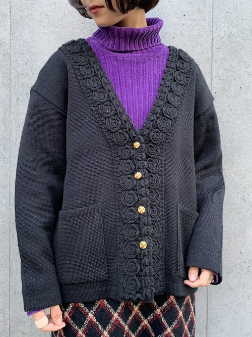 (TOYO) design knit cardigan