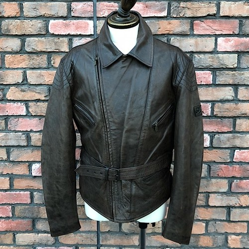 Deadstock Belstaff Black Prince Leather Bikers Jacket/Large
