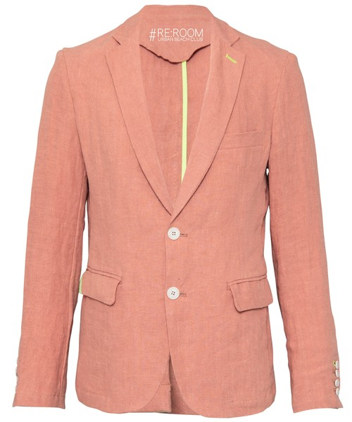 LINEN SLIM TAILORED JACKET[RUJ002]