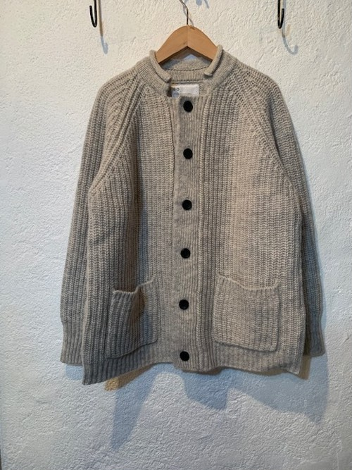 so/クルクル衿ニットジャケット オートミール