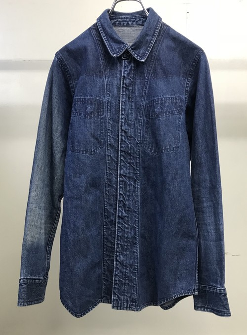 SS1999 UNDERCOVER RELIEF DENIM SHIRT