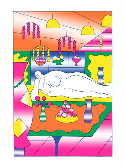 Chou Yi(周依)リソグラフ作品「歡迎光臨Disco」