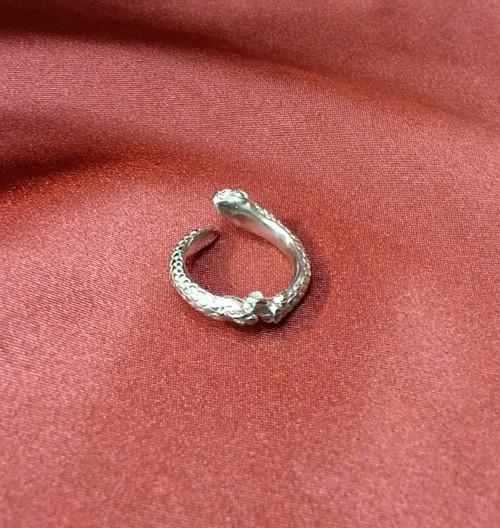 HOASHIYUSUKE ヘビのピンキーリング silver