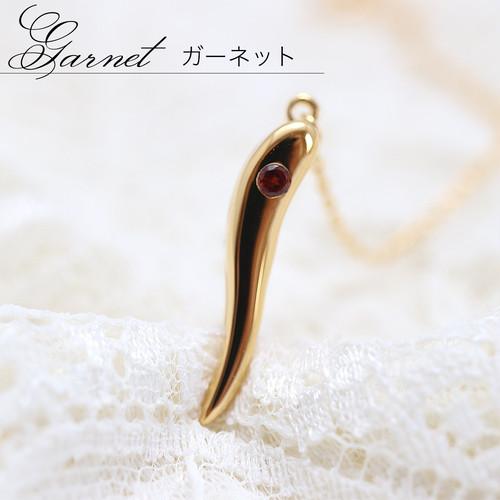 ガーネット入 jewelead ゴールド色 /チェーンタイプ