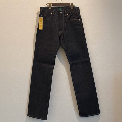 LOOSE STRAIGHT DENIM PANTS <RIGID> (INDIGO) / GERUGA