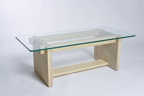 日本の木のリビングテーブル Kumiko