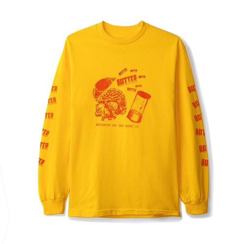 BUTTER GOODS ENEMY L/S TEE GOLD