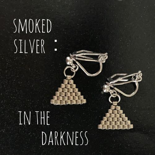smoked silver:pierce、earring