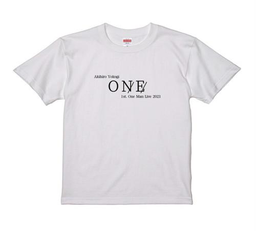横木章弘1st One Man Live「ONE」記念限定Tシャツ白❗️
